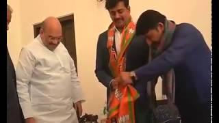Shri Ravi Kishan joins BJP in presence of Shri Amit Shah, Shri Ramlal ji and Shri Manoj Tiwari