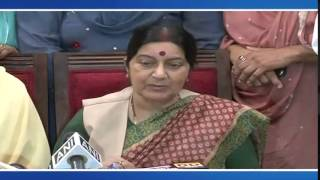 External Affairs Minister meeting with family members of Indians held in captivity in Iraq