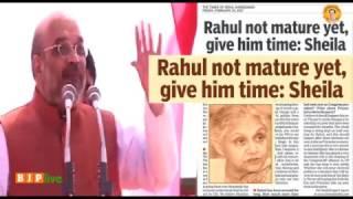 शीला दीक्षित जी आपकी बात पूरा देश मान रहा है कि राहुल जी अभी मेच्योर नहीं हुए हैं: श्री अमित शाह
