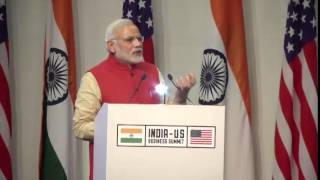 Prime Minister Shri Narendra Modi addresses India-US Business Summit