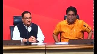 Press Conference by Shri J.P Nadda at BJP HQ - 12.03.2017