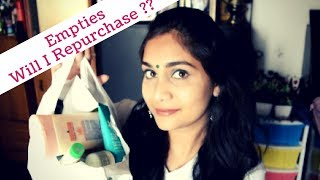 Product Empties 2018 | Products I have used up!! | Will I Repurchase?? #empties2018 | Nidhi Katiyar