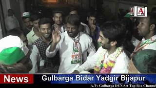 Umar Colony Mein Congress Candidate Kaneez Fatima Ki Pad Yatra A.Tv News 3-5-2018