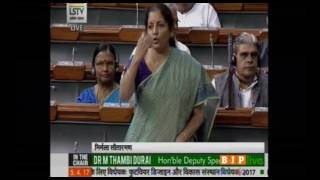 Smt. Nirmala Sitharaman's reply on The Footwear Design and Development Institute Bill, 2017
