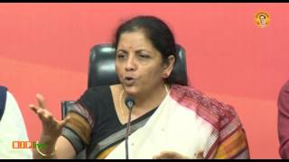 Press Conference by Smt  Nirmala Sitharaman at BJP Central Office, New Delhi : 06.04.2017