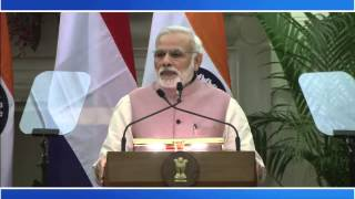 Joint Press Briefing :Official Visit of Prime Minister of the Kingdom of the Netherlands to India
