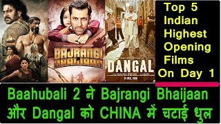 Top 5 Indian Highest Opening Films In CHINA On Day 1