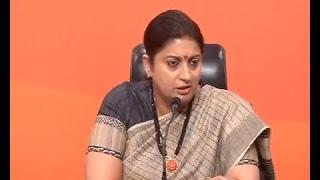 Joint Press Conference by Smt. Smriti Irani & Shri Bhupendra Yadav at BJP Head Office, New Delhi
