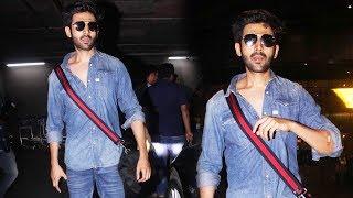 Kartik Aaryan Spotted At Mumbai Airport