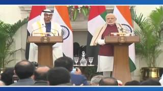 Exchange of Agreements & Press Statements: State Visit of Crown Prince of Abu Dhabi to India