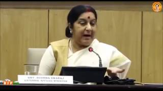 India remains committed to Paris Accord on climate change, with or without US : EAM Sushma Swaraj