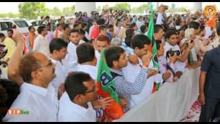 Shri Amit Shah's welcome at Raipur Airport, Chhattisgarh, 08.06.2017