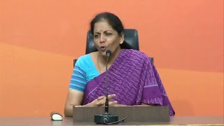 Press Conference by Smt. Nirmala Sitharaman at BJP Central Office, New Delhi : 12.06.2017