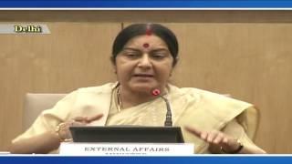 External Affair Minister Sushma Swaraj holds press conference on completion of 2 yrs of Modi govt.