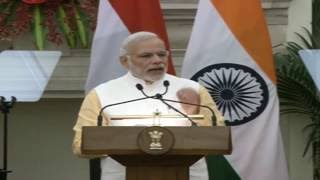 Signing of Agreements &  Press Statement: Visit of President of Egypt to India