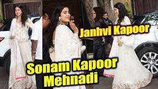 Janhvi Kapoor Arrives At Sonam Kapoor's Mehndi Ceremony