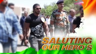 SANGRAM CHOUGULE | IN AN EVENT WITH INDIAN ARMY HEROES |