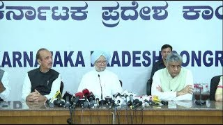 Karnataka Election 2018: Former PM Dr Manmohan Singh addresses a press conference in Bengaluru