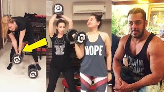 Salman Khan LADYLOVE Iulia Vantur & Sonakshi Sinha Workout Video