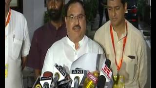 BJP does not favour mid-term polls in Bihar. We welcomes the battle of corruption in Bihar: JP Nadda