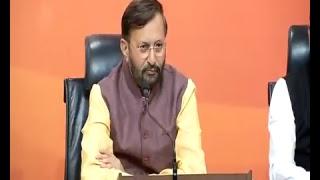 Joint Press Conference by Shri Prakash Javadekar & Dr. Sambit Patra at BJP Central Office, New Delhi