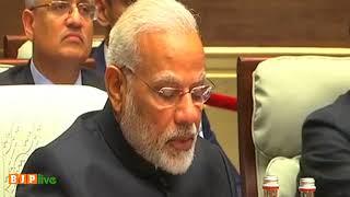 PM Shri Narendra Modi at BRICS Plenary session in Xiamen, China.