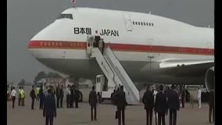 PM Shri Narendra Modi welcomes PM of Japan Shinzo Abe in Ahmedabad, Gujarat : 13.09.2017
