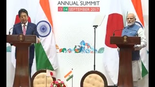 Joint Press Conference by PM Shri Narendra Modi & PM Shinzo Abe in Ahmedabad