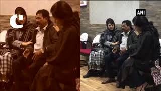 J&K CM Mehbooba Mufti meets kin of tourist who died in stone pelting in Srinagar