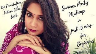 No Foundation Summer Sweat Proof Wedding Guest Makeup| Makeup for Beginners Step by Step in Hindi