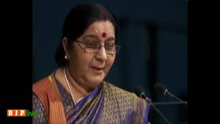Unmissable and unmatchable : EAM Sushma Swaraj on the existential dichotomy of India and Pakistan.
