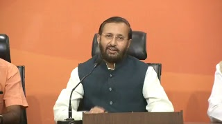 Press Conference by Shri Prakash Javadekar at BJP Central Office, New Delhi