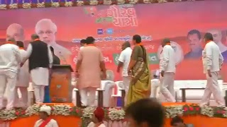 Shri Amit Shah flag off Gujarat Gaurav Yatra from Porbandar, Gujarat : 02.10.2017