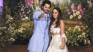 Varun Dhawan With Girlfriend Natasha At Sonam Kapoor's Wedding Reception