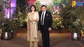 Rishi Kapoor With Wife Neetu Kapoor At Sonam Kapoor Grand Wedding Reception