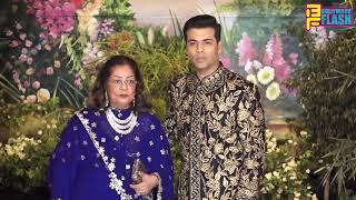 Karan Johar With Mother Hiru Johar At Sonam Kapoor GRAND Reception Party