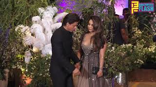 Shah Rukh Khan Grand Entry With Wife Gauri Khan At Sonam-Anand Grand Reception Party