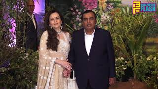 Mukesh Ambani With Wife Nita Ambani At Sonam- Anand Grand Reception Party