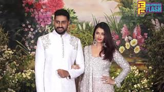 Cute Couple Aishwarya Rai & Abhishek Bachchan At Sonam Kapoor GRAND Reception Party