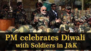 PM Shri Narendra Modi celebrates Diwali with jawans of Indian Army and BSF, in Gurez Valley, J&K