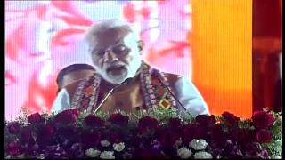 PM Shri Narendra Modi addresses public meeting in Bidar, Karnataka