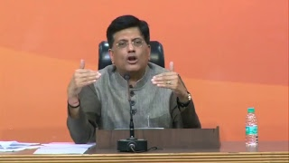 Press Conference by Shri Piyush Goyal at BJP Central Office, New Delhi : 17.11.2017