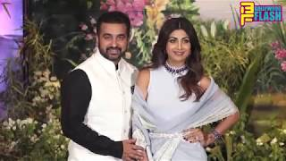 Shilpa Shetty Kundra With Husband Raj Kundra At Sonam Kapoor Reception Party