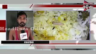 Worm Rice Feed In Nuapada Hospital