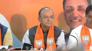 Joint Press Conference by Shri Arun Jaitley, Shri Bhupendra Yadav & Shri Jitu Vaghani in Gujarat