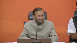 Press Conference by Shri Prakash Javadekar at BJP Head Office, New Delhi : 19.12.2017
