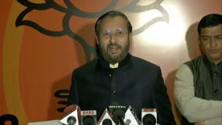 Byte by Shri Prakash Javadekar at BJP Head Office, New Delhi