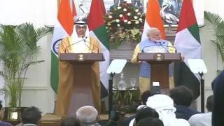 Exchange of Agreements & Press Statements: Visit of Crown Prince of Abu Dhabi to India
