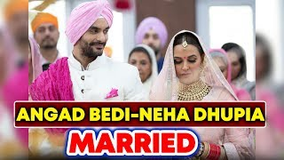 Angad Bedi And Neha Dhupia GETS MARRIED In A Private Ceremony