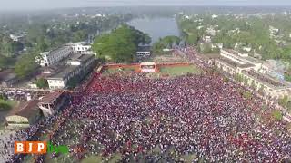 The unprecedented turnout in Shri Amit Shah's rally in Udaipur, Tripura.